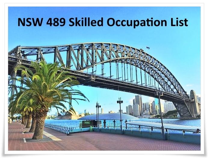 The NSW State Regional nomination (489 Visa) Skilled Occupation List